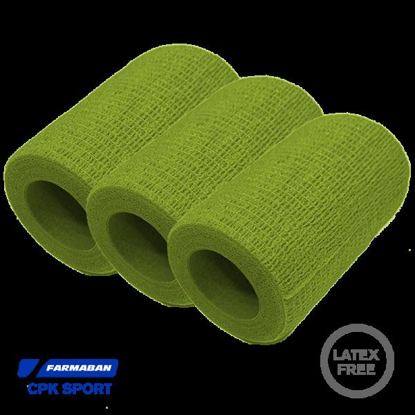 Venda cohesiva Farmaban - Color Verde (x3)