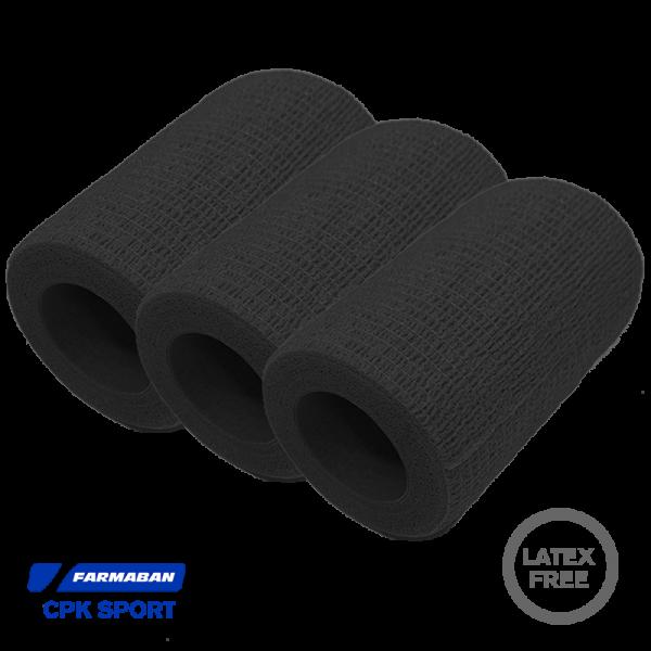 Venda cohesiva Farmaban - Color Negro (x3)