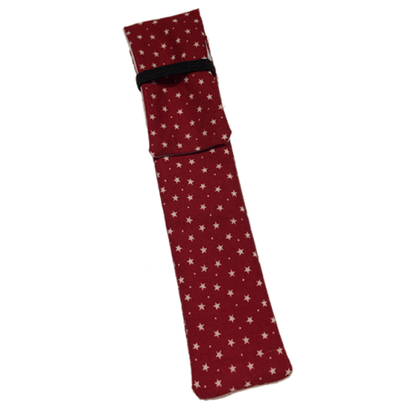 Funda Pluma Insulina Estrellas Rojo (x1)