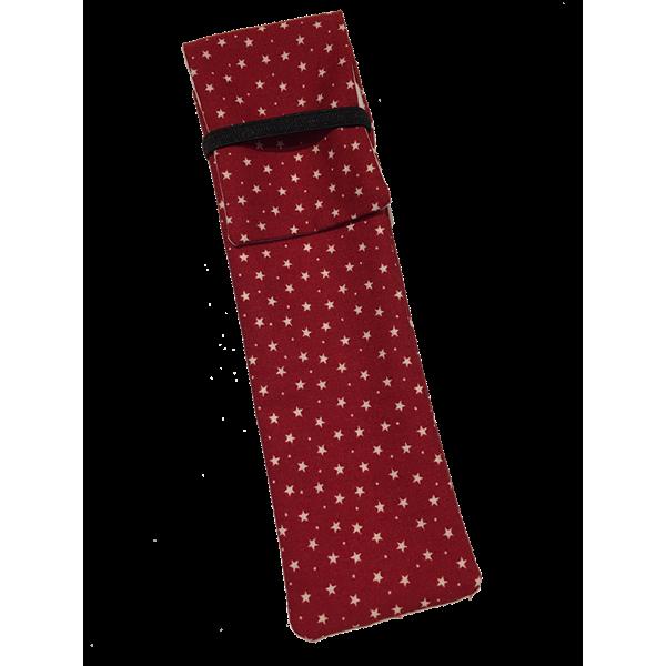 Funda Pluma Insulina Estrellas Rojo (2 plumas)