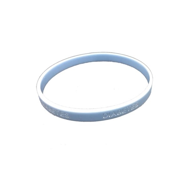 Pulsera silicona Diabetes - Color Azul Claro