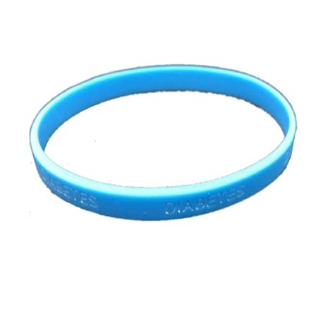 Pulsera silicona Diabetes - Color Azul Claro