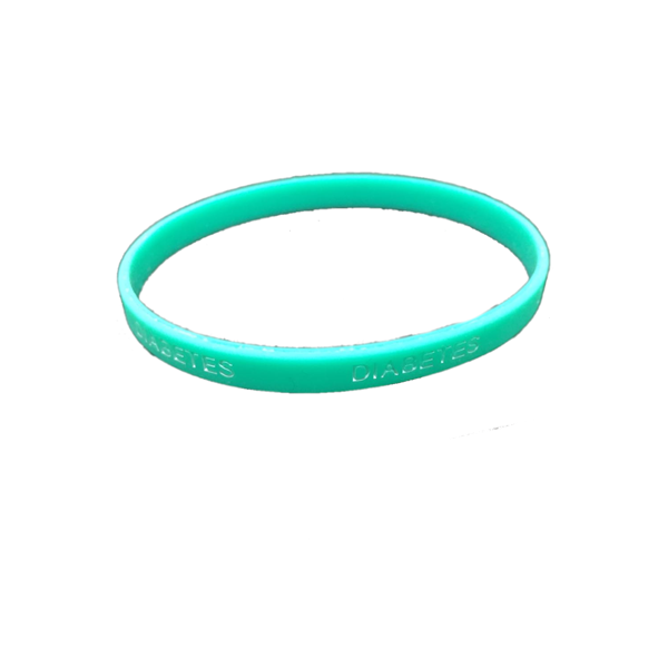 Pulsera silicona Diabetes - Color Verde