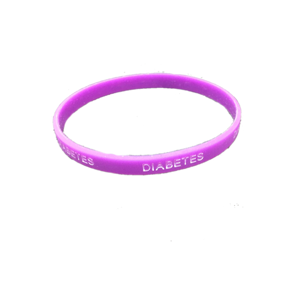 Pulsera silicona Diabetes - Color Morado