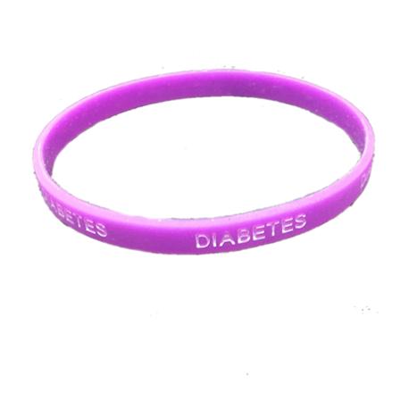 Pulsera silicona Diabetes - Color Morado