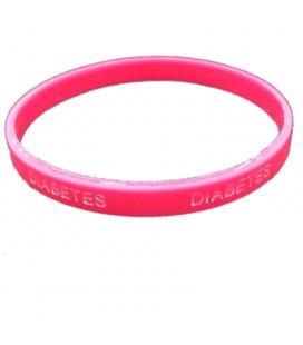 Pulsera silicona Diabetes - Color Rosa