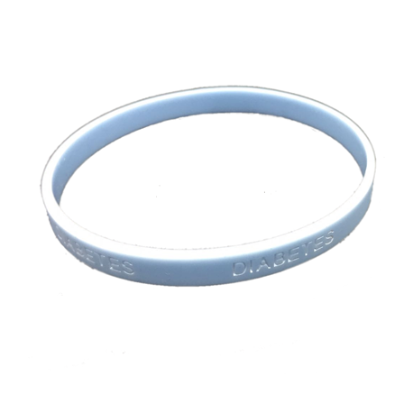Pulsera silicona Diabetes - Color Azul Claro Niño