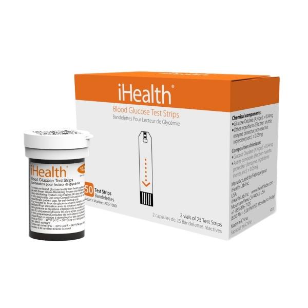 Tiras Reactivas para Glucómetros iHealth