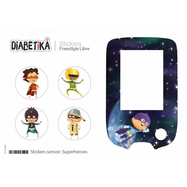 Stickers Libre Glucometro - Superheroes