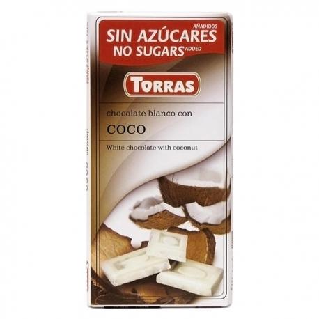 Chocolate Torras Blanco con Coco