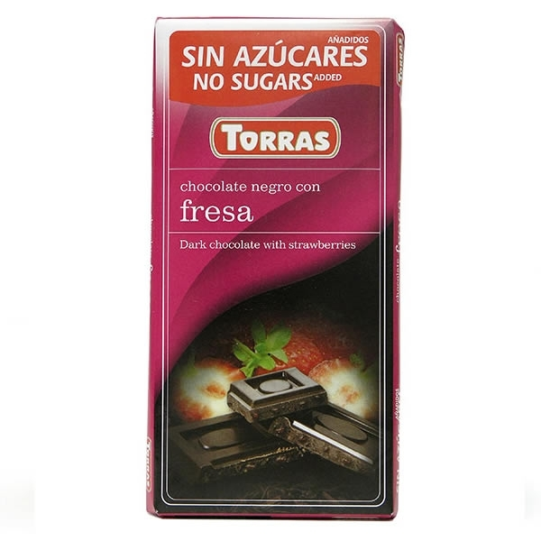 Chocolate Torras Negro con Fresas