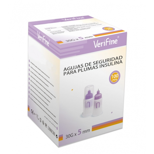 Agujas de Seguridad Verifine 5mm/30G