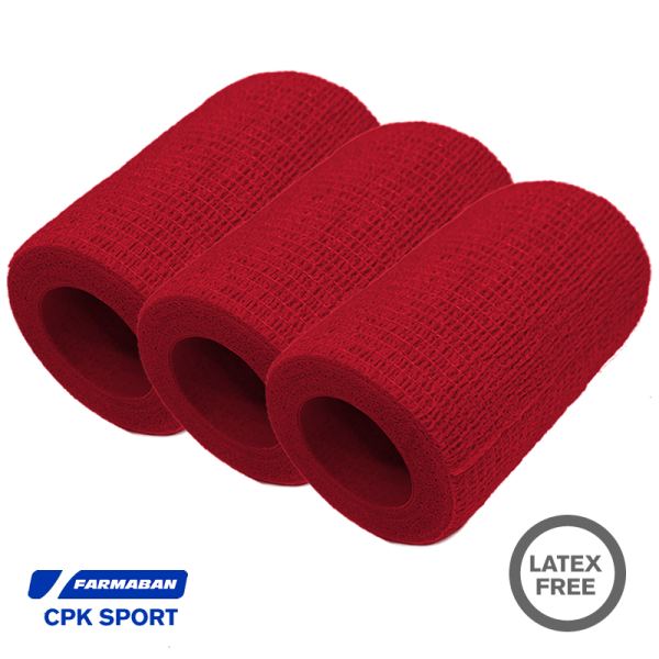Venda Cohesiva Farmaban CPK Sport color rojo (Pack 3)