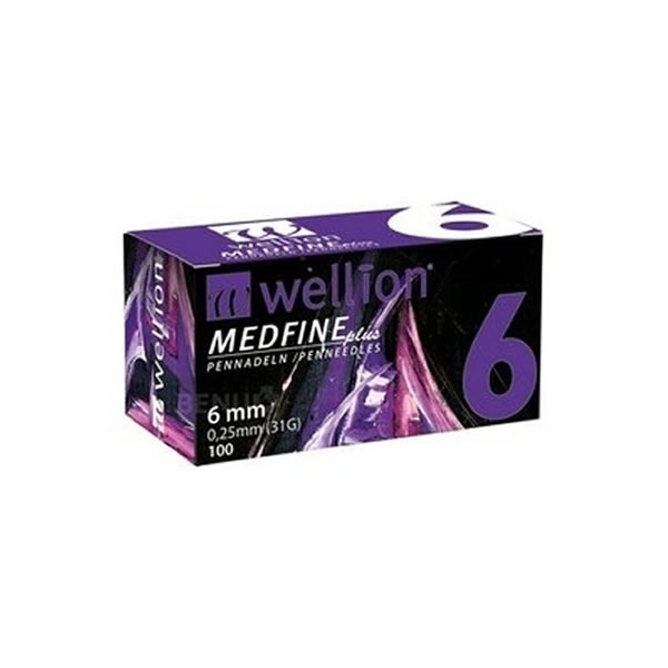 Agujas Wellion Medfineplus 6mm/31G/0,25mm