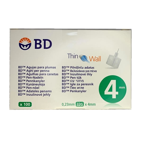 Agujas BD Thinwall 0,23 mm 32G 4 mm