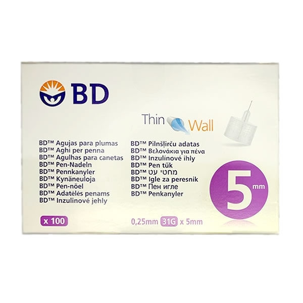 Agujas BD Thinwall 0,25 mm 31G 5 mm