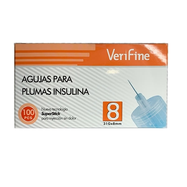 Agujas para Plumas de Insulina Verfine - 31GX8mm