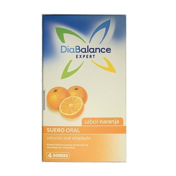 Diabalance Suero Oral Naranja  (x4)