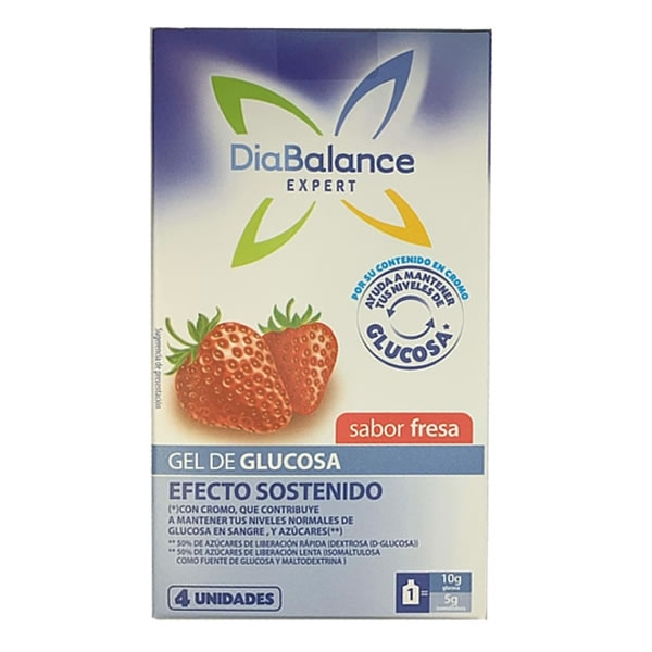 Diabalance Gel Glucosa Efecto Sostenido Fresa (x4)