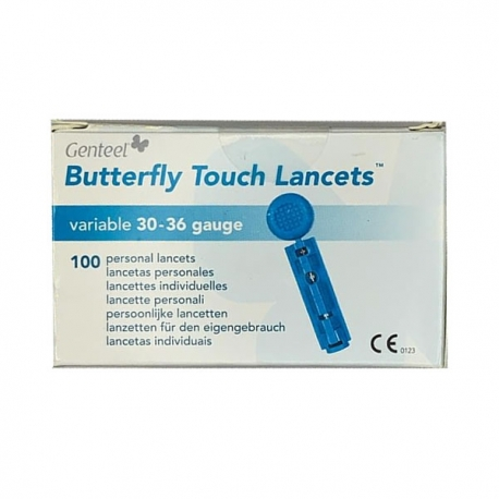 Lancetas de Genteel Butterfly Touch - 100 unidades