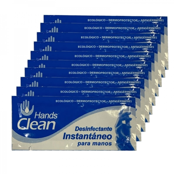 Hands Clean - Desifenctante alcohol monodosis (pack 10)