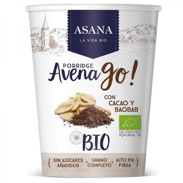Porridge Avena Go! Con Cacao y Baobab - Asana