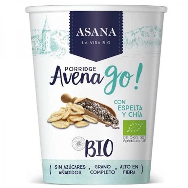 Porridge Avena Go! Con Espelta y Chía - Asana