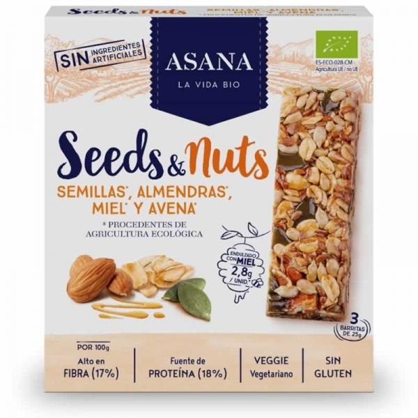 Barritas de Semillas y Frutos Secos - Asana