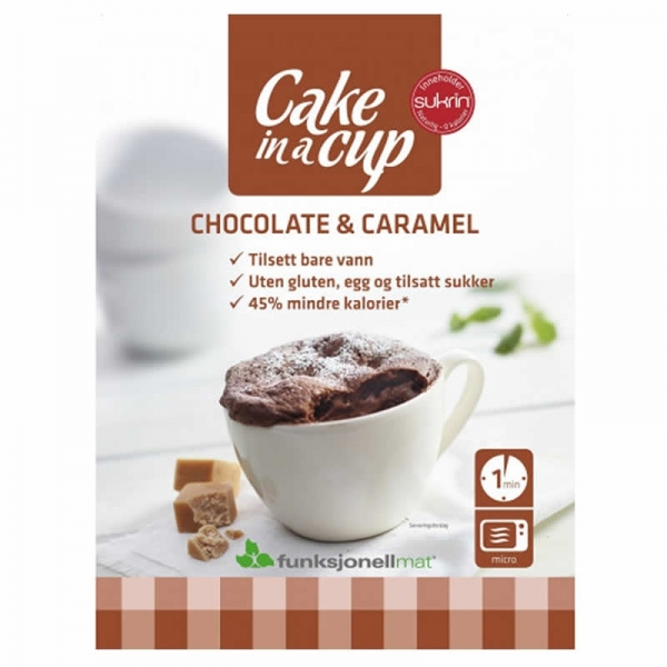 Bizcocho en Taza de Chocolate y Caramelo Sukrin