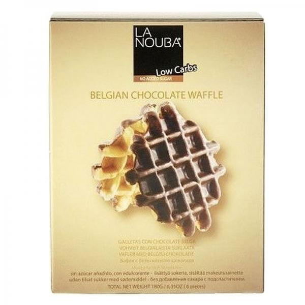 Gofres con Chocolate Belgas Esponjosos Low-Carb LaNouba