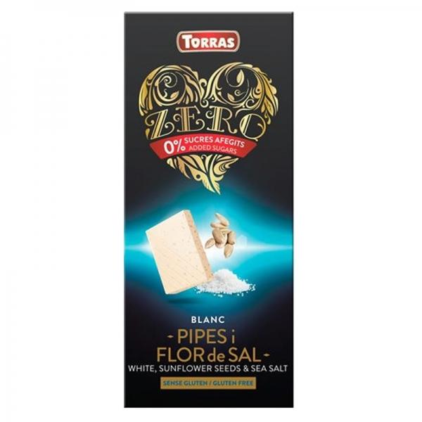 Chocolate Blanco Torras Zero Pipas & Flor de Sal