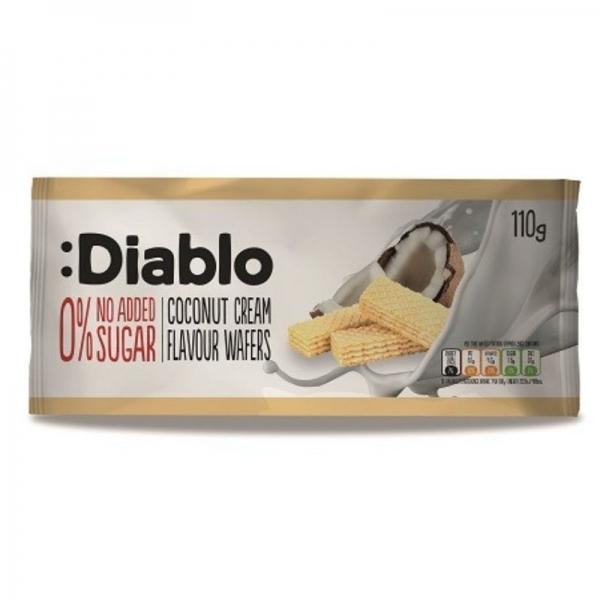 Barquillo :Diablo con crema de coco sin Azúcar
