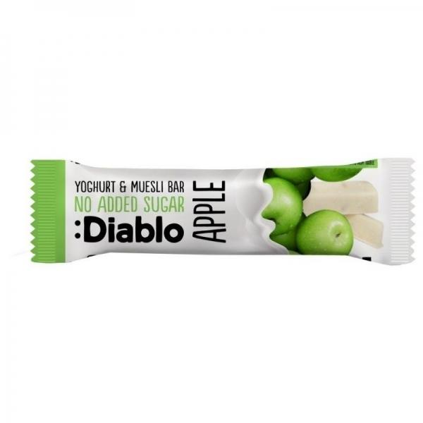 Barrita Muesli de Manzana Sin Azúcar Añadido  Recubierta de Yoghurt :Diablo