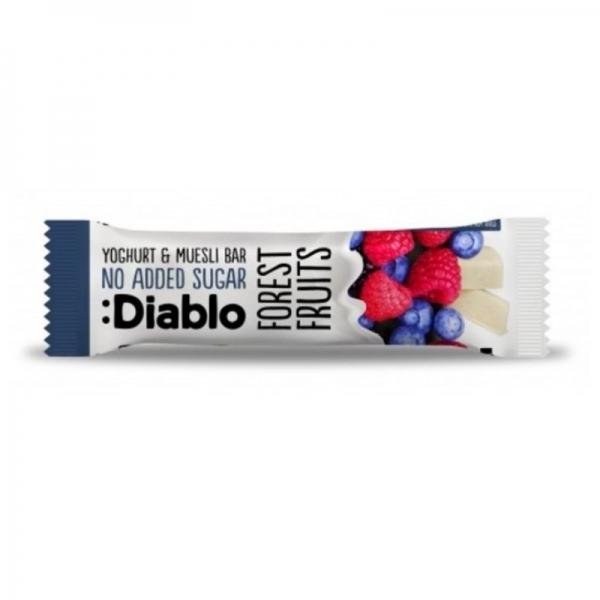 Barrita Muesli de Frutos del Bosque Sin Azúcar Añadido  Recubierta de Yoghurt :Diablo