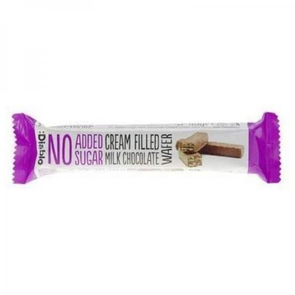 Barquillo :Diablo con crema de chocolate con leche sin Azúcar