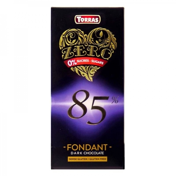 Chocolate negro 85% Torras Zero Fondant