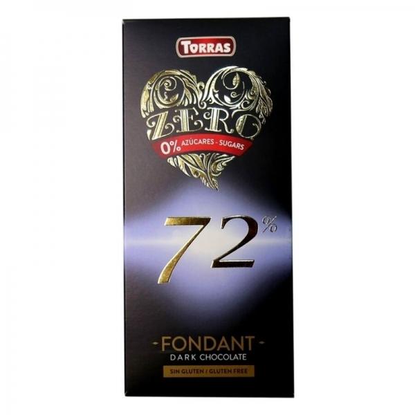 Chocolate Torras Zero Negro 72% Fondant