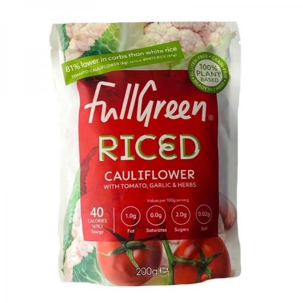 Arroz de Coliflor, Tomate, Ajo, Hierbas  - Fullgreen