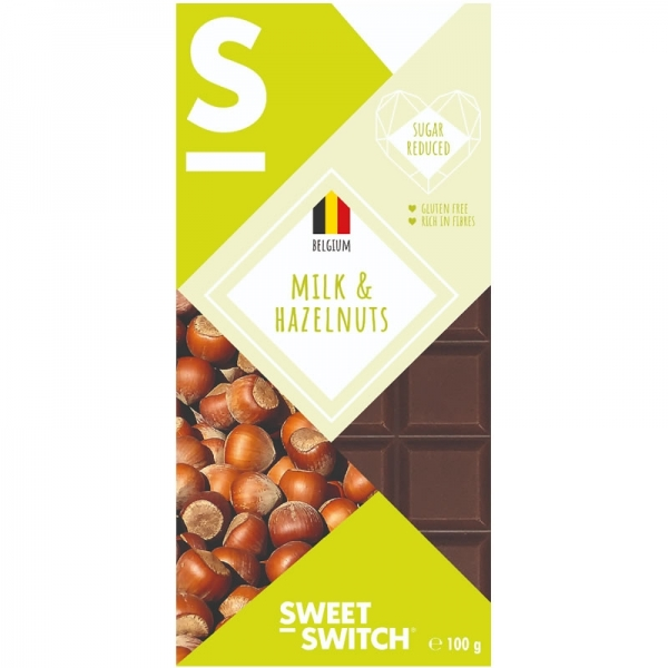 Chocolate Belga con leche y almendras - Sweet Switch