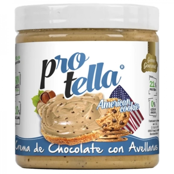 Crema de Chocolate Blanco con Avellana y Cookies - Protella