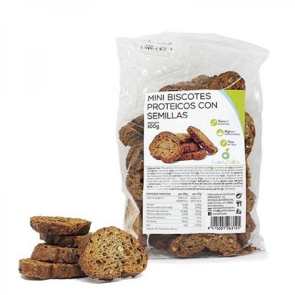 Mini Biscotes Proteicos con Semillas -  GoodyFoods