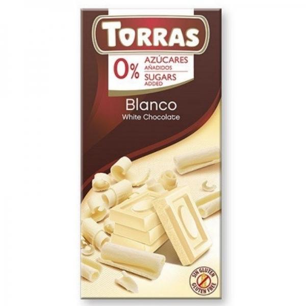 Chocolate Torras Blanco 0% azúcares añadidos