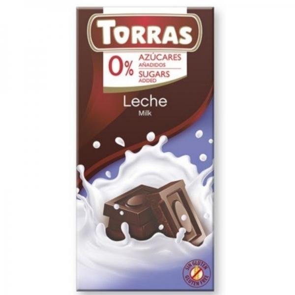 Chocolate Torras con Leche 0% azúcares añadidos