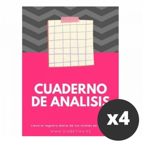 Pacote de notebook de glicose Níveis de alise (x4)