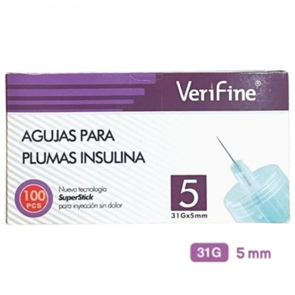 Agujas Verifine 31G 5mm