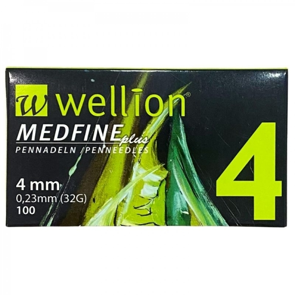 Agujas Wellion Medfineplus 4mm/32G/0,23mm