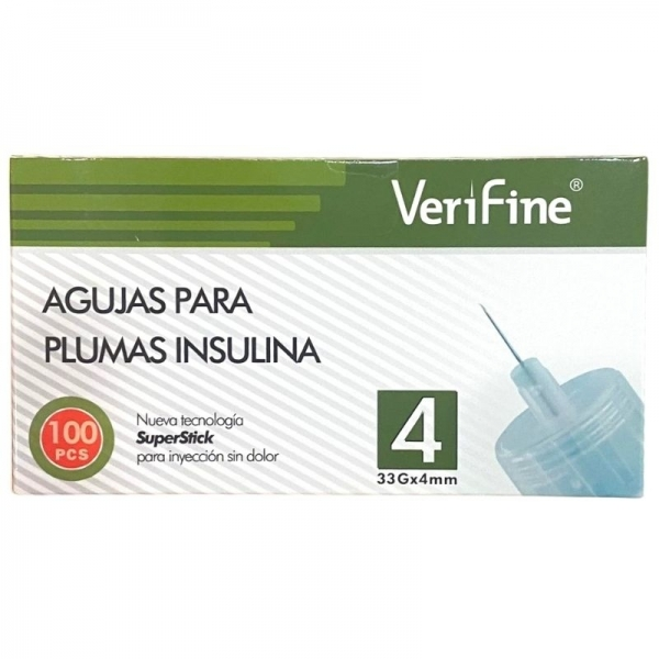 Agujas Verifine 4mm/33 G