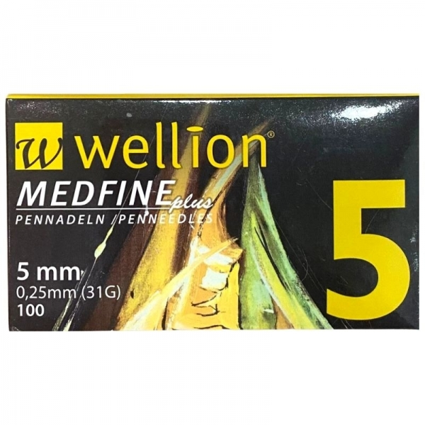 Agujas Wellion Medfineplus 5mm/31G/0,25mm