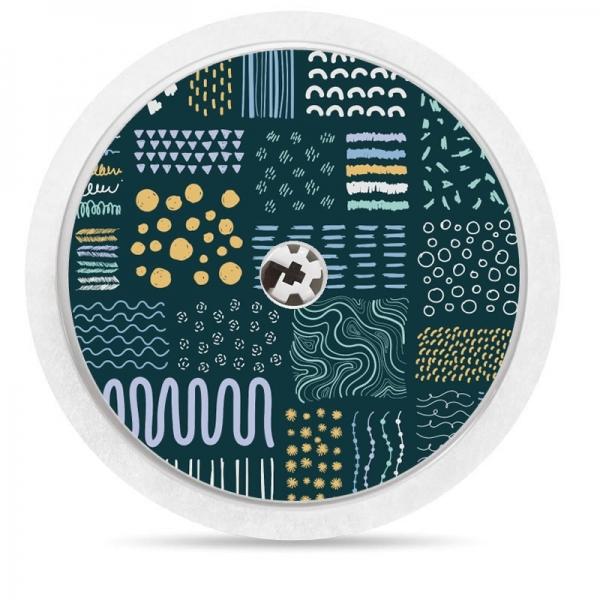 Pegatina Sticker para Freestyle Libre® - Ondas Azul Marino [46]