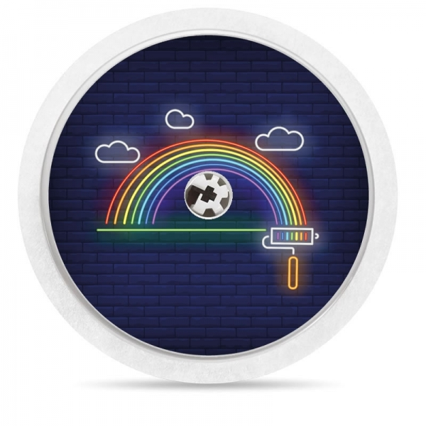 Pegatina Sticker para Freestyle Libre® - Arcoiris neon [34]